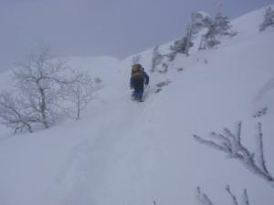 11年2月硫黄岳 028