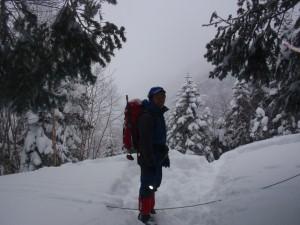 11年2月硫黄岳 014
