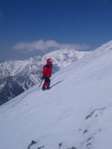IMGP0079 アイスバーンの登りjpg