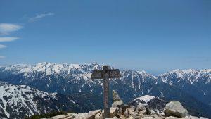 唐松岳山頂から見えた立山連峰