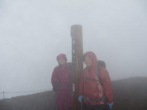 旭岳は強風雨