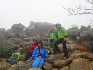 観音岳山頂にて