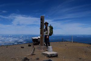 旭岳山頂にて