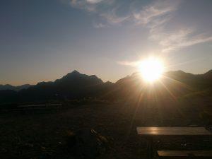 剣岳の朝日