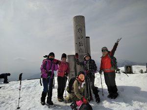 塔ノ岳山頂にて